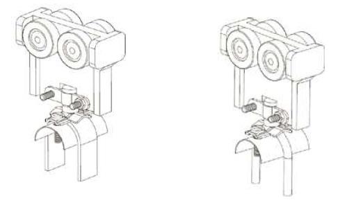 Kabelová kladka nylonová L00 a L01