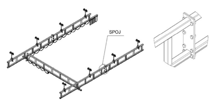 Montáž spojek v jeřábové dráze NIKO