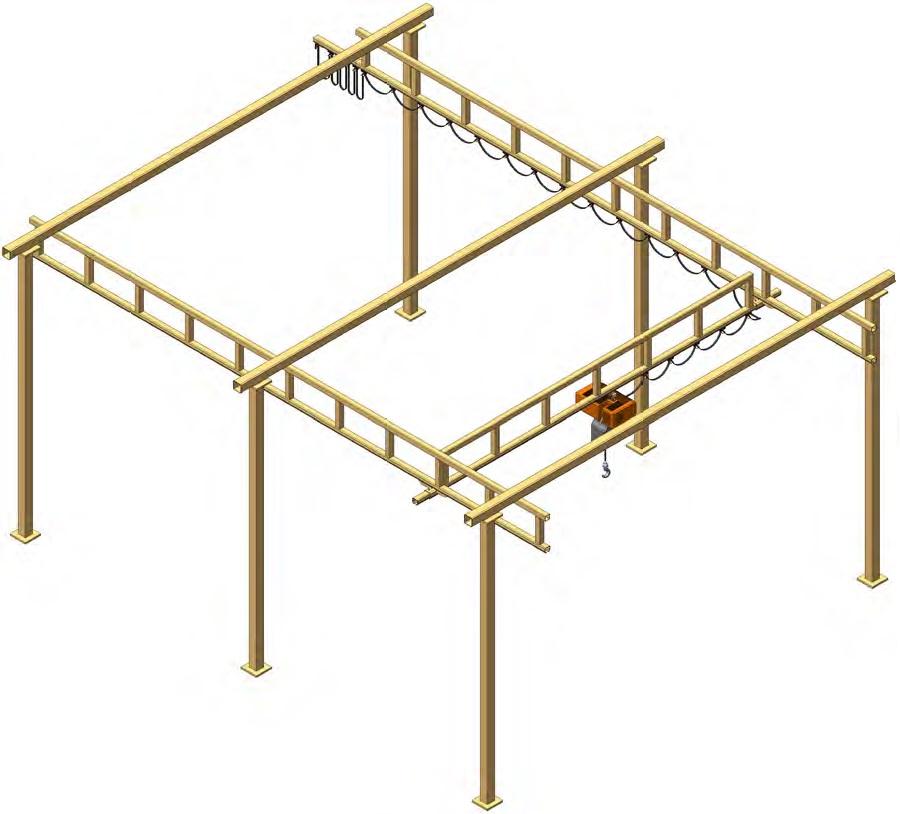 Mostový jeřáb s příhradovou konstrukcí