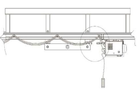 Propojení elektricky poháněného vozíku s kladkou
