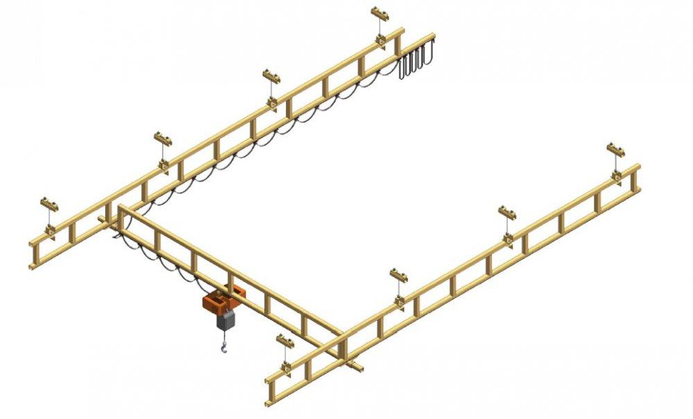 Lehký jeřáb s příhradovou konstrukcí
